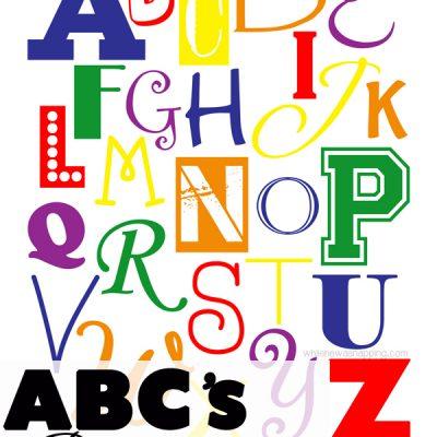 """ABC"" Printable Typography Poster"