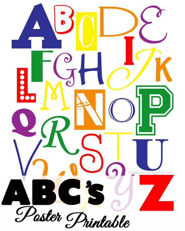 ABC Printable Typography Poster Ask Anna