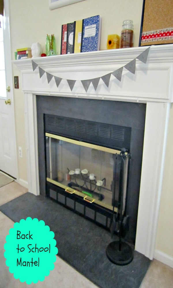 budget back to school mantel