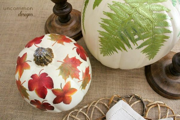 Botanical_mod_podge_pumpkins
