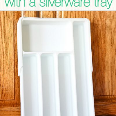Simple Organization Tips using a Silverware Tray