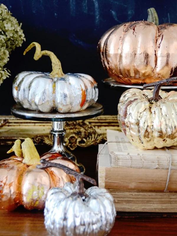 Metallic pumpkins