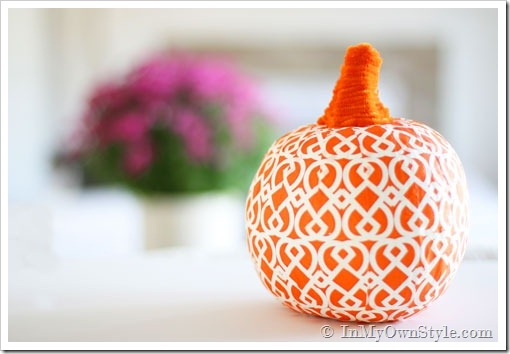 Napkin covered pumpkin