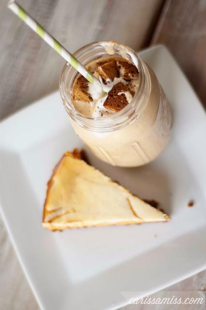 Pumpkin cheesecake milkshake