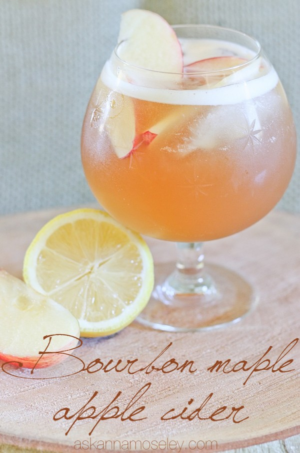Bourbon maple apple cider - Ask Anna
