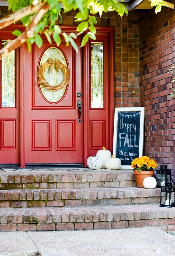 Fall front porch - Ask Anna