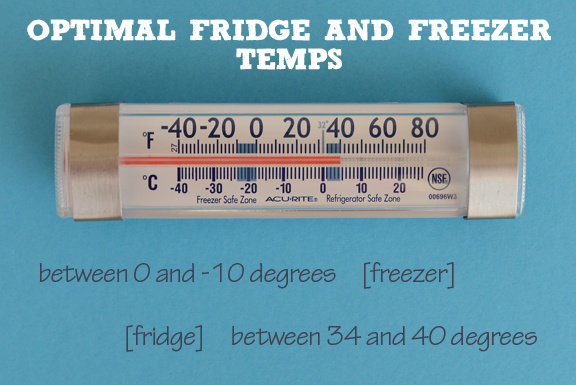 What's the best fridge and freezer temp?