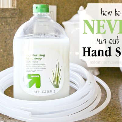 How to Never Run Out of Hand Soap