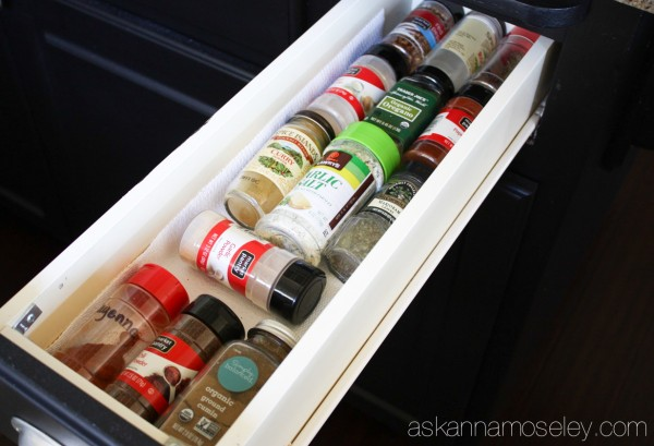 How to organize a spice drawer - Ask Anna