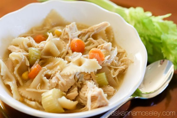 The BEST crockpot chicken noodle soup - Ask Anna