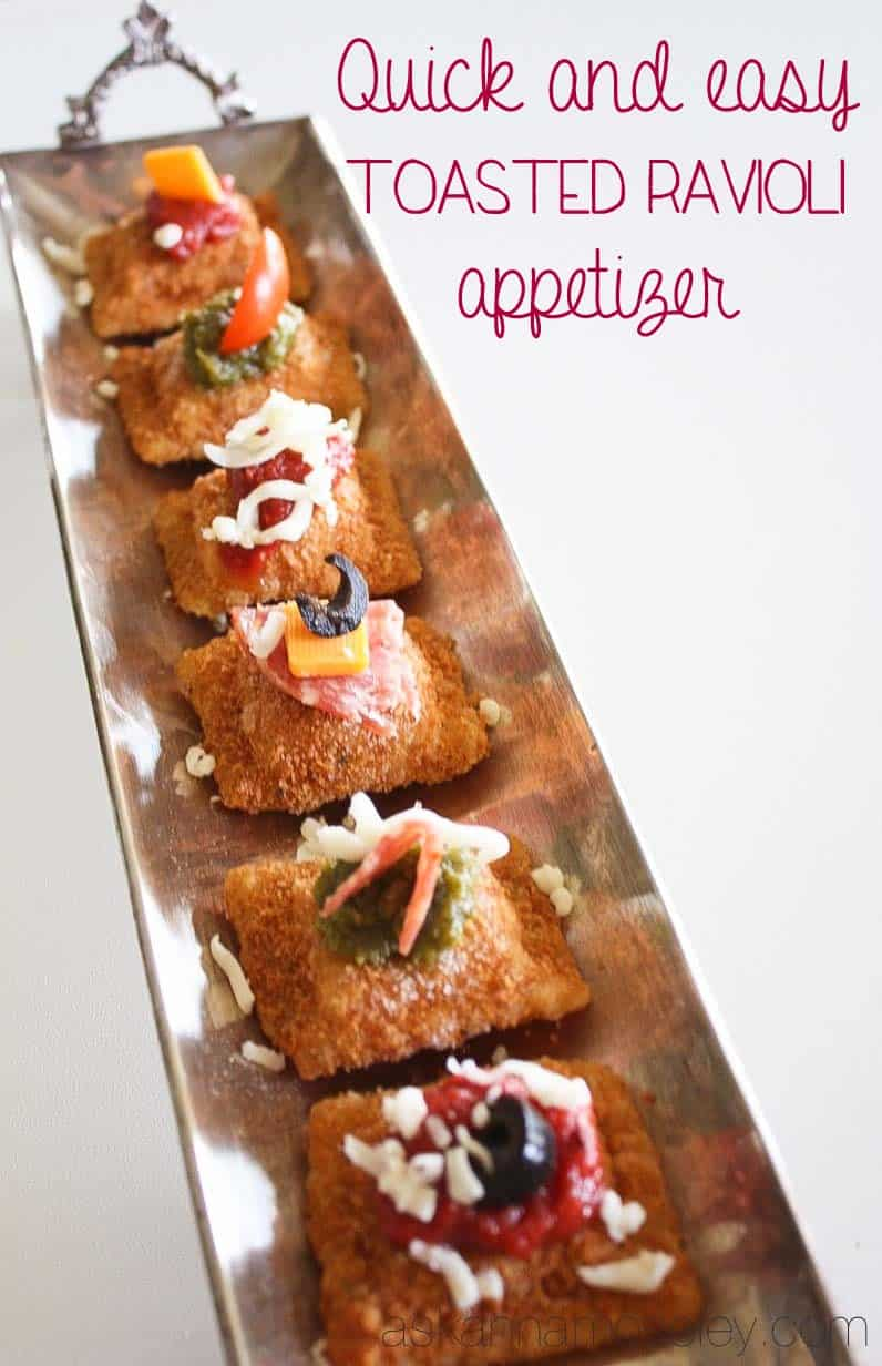 Quick and Easy Toasted Ravioli Appetizer - Ask Anna