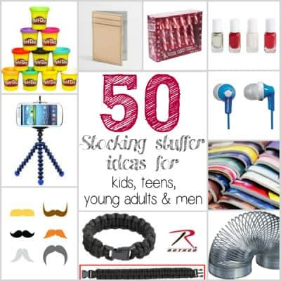 50 Stocking Stuffer ideas for Kids, Teens and Adults