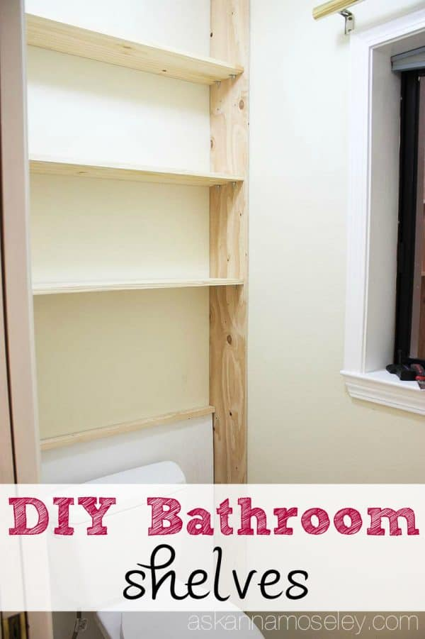 Master bathroom shelves - Ask Anna