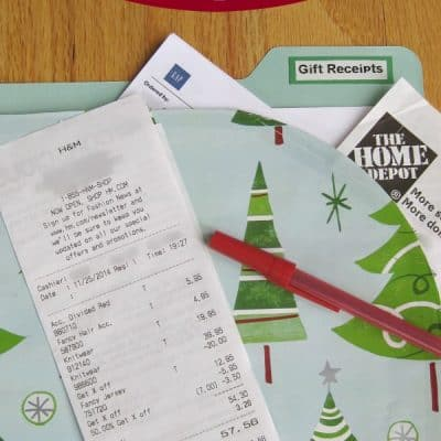 How to Organize Your Holiday Gift Receipts