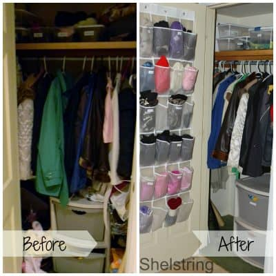 Coat Closet Organization: Thinking Outside the Box