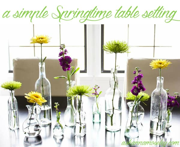 Simple Springtime Table Decorations - Ask Anna