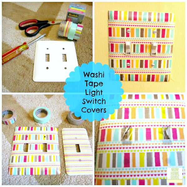 DIY Washi tape light switch covers