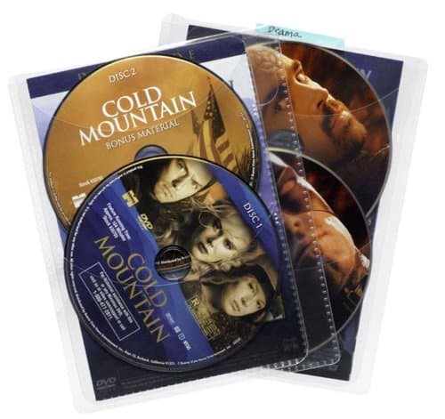 DVD storage sleeves