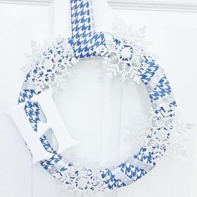 Frozen Inspired Monogram Wreath