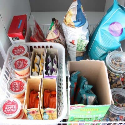 How to Organize Kids Snack Food
