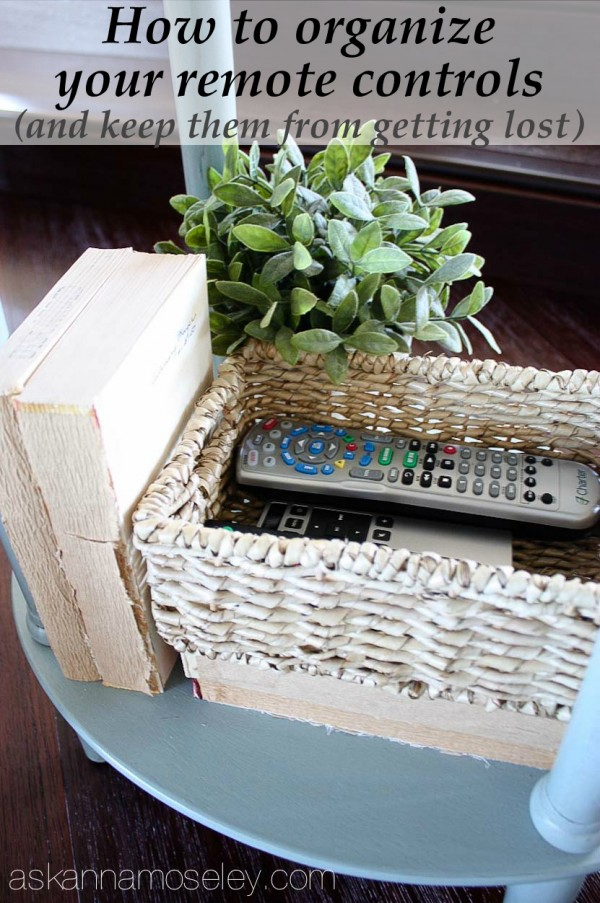 How to organize your remote controls and keep them from getting lost - Ask Anna