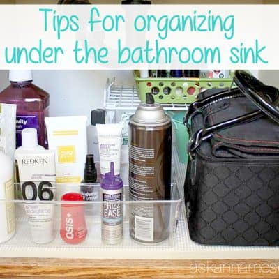 Affordable tips for Organizing Under the Bathroom Sink