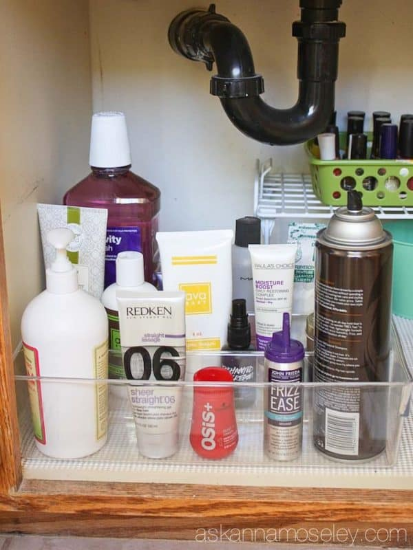 Affordable tips for organizing under the bathroom sink - Ask Anna