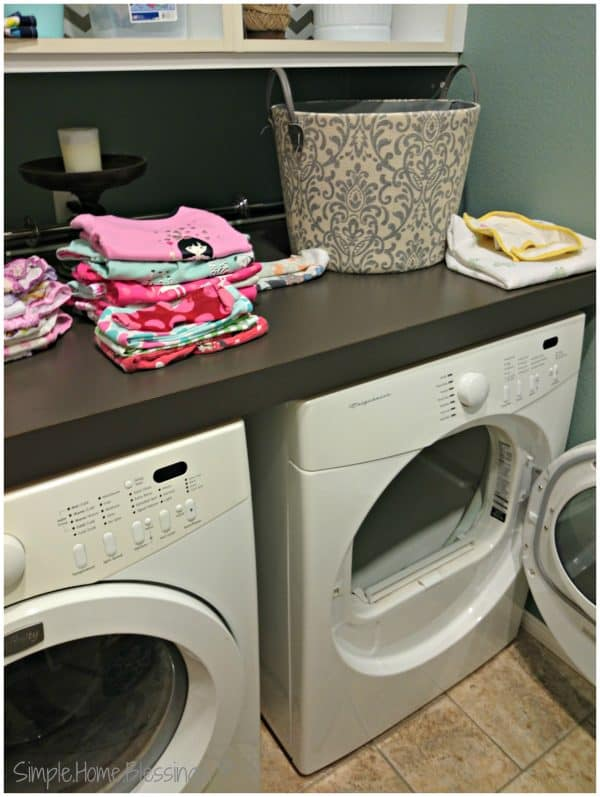 Simple Laundry Tips to Save Time and Money, tip #3 - have a specific place for folding