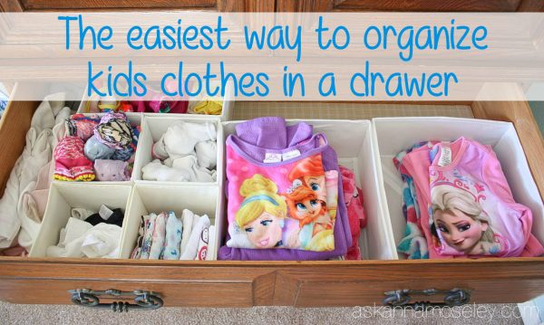 The easiest way to organize kids clothes (and keep them organized) in a drawer - Ask Anna