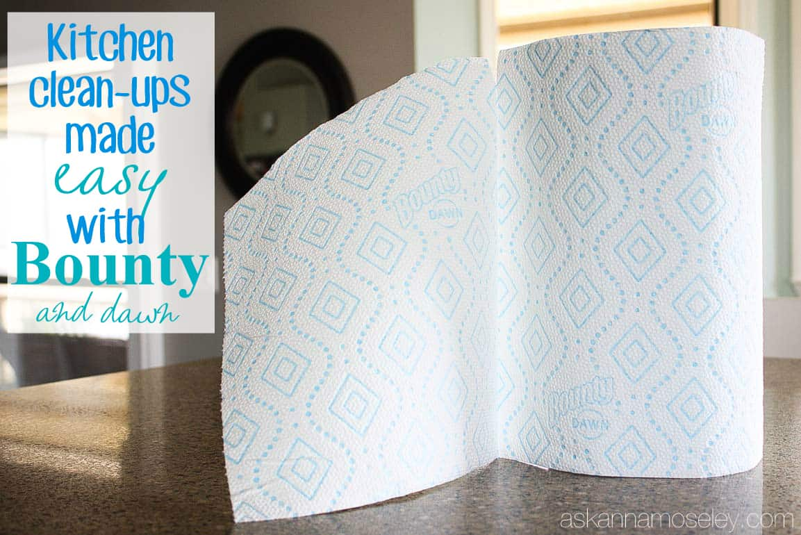 Kitchen clean ups made quick and easy with Bounty and Dawn - Ask Anna