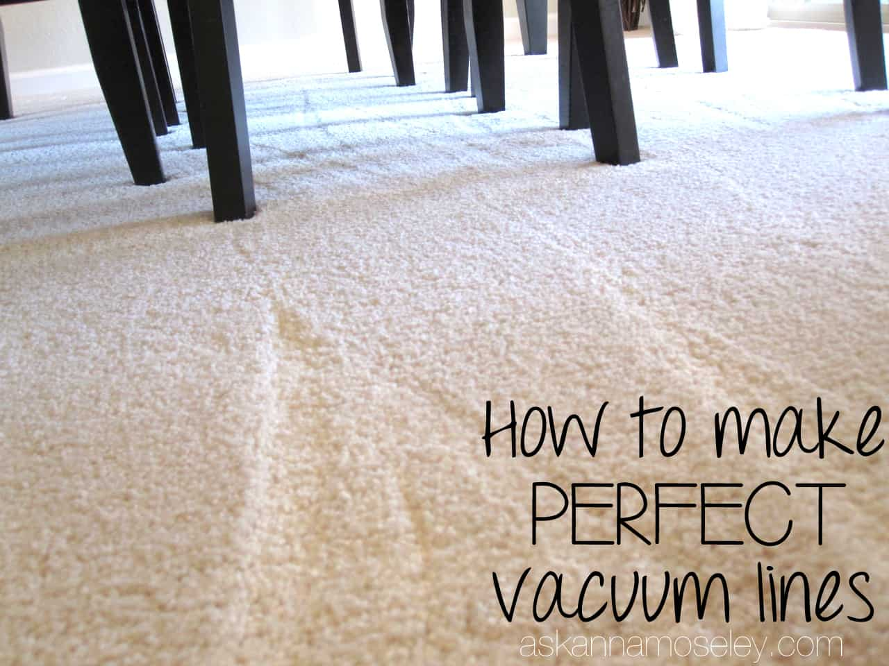 How To Make Perfect Vacuum Lines