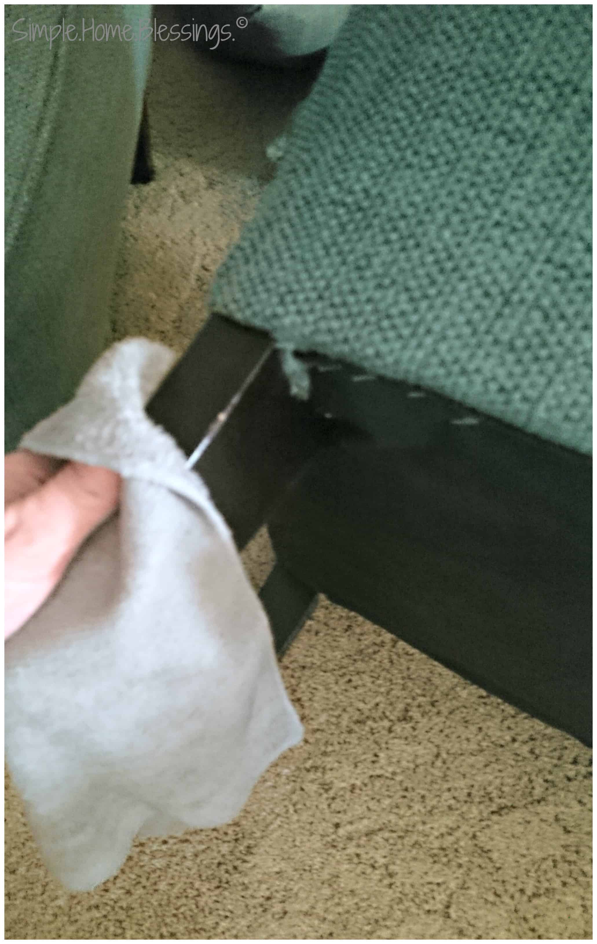 ... Soft Cloth To Dust And Condition The Legs Of The Chair/sofa. Get All  Sides Of The Legs And Make Sure They Are Still Screwed Securely On The  Chair/sofa.