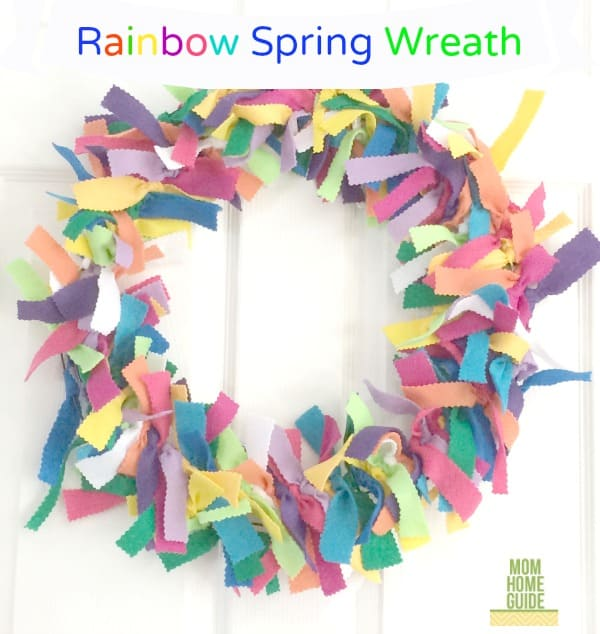 DIY Rainbow Wreath for Spring