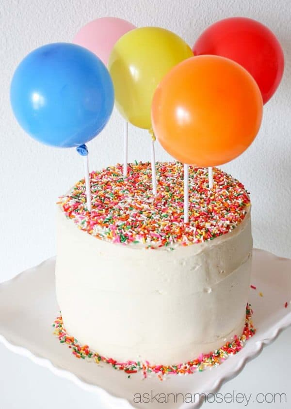 Images Of Birthday Cake And Balloons : Birthday Balloon Cake with a Surprise Inside! - Ask Anna
