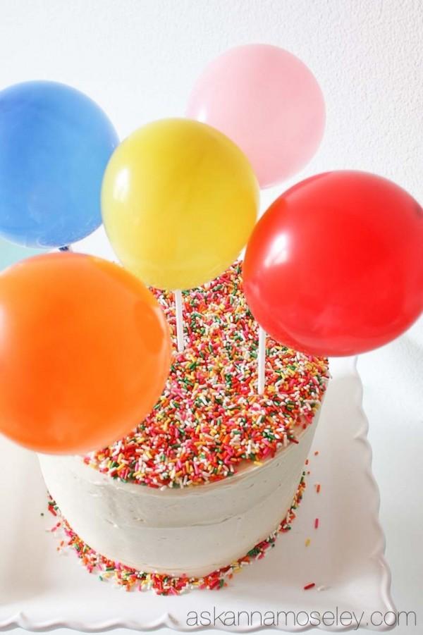 Surprise inside balloon cake - Ask Anna