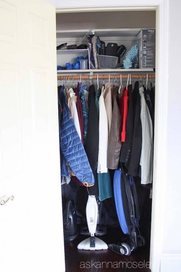 Coat Closet Before Picture