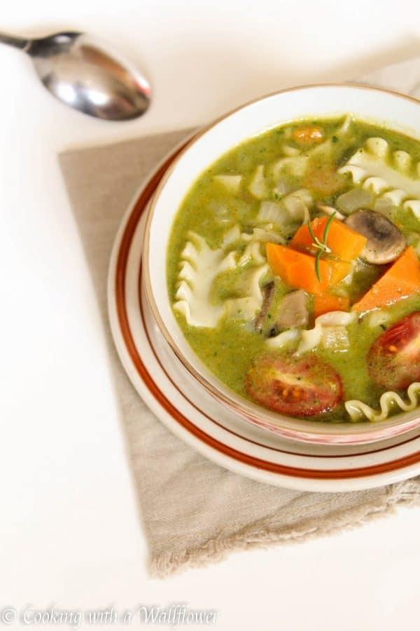 Creamy Pesto Vegetable Lasagna Soup 2