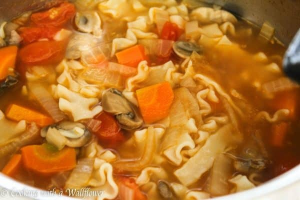 Creamy Pesto Vegetable Lasagna Soup 6