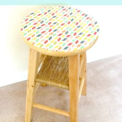 DIY Side Table made from a Stool!