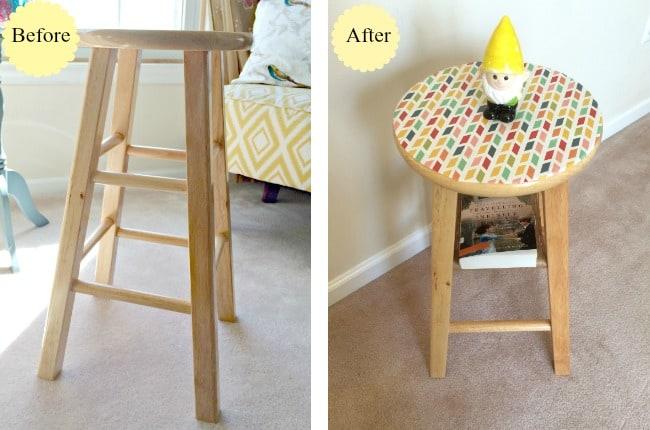 DIY Stool Side Table