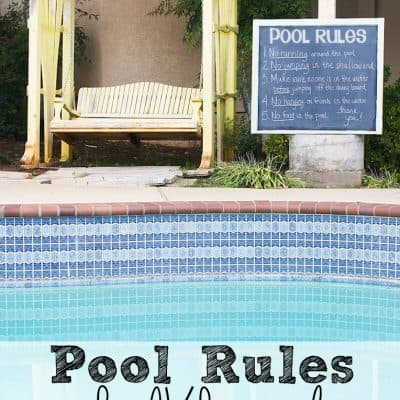 DIY Pool Rules Chalkboard