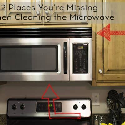 Two Places You're Missing When Cleaning the Microwave