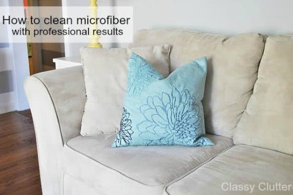 How to Clean Microfiber by Classy Clutter