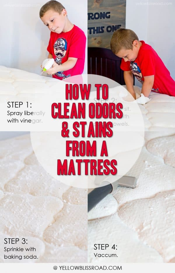 How to Clean Odors and Stains from your Mattress with Yellow Bliss Road