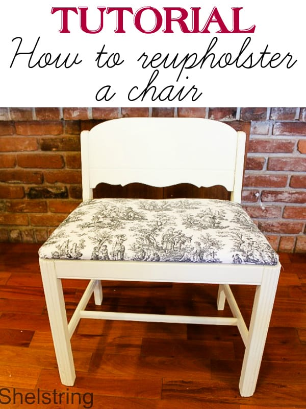 How to reupholster a chair (tutorial)