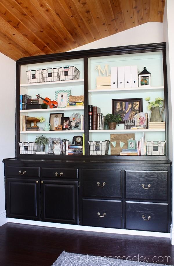 Built-in office shelves - Ask Anna