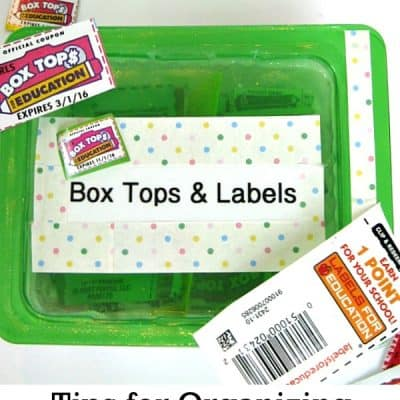 5 Tips for Organizing Box Tops & Labels