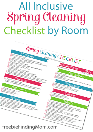 Printable Spring Cleaning Checklist by Freebie Finding Mom