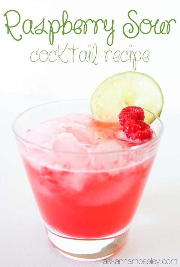 Rasberry sour cocktail recipe - Ask Anna
