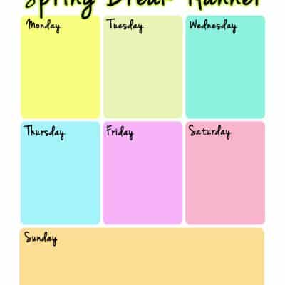 Spring Break Planner – FREE Printable